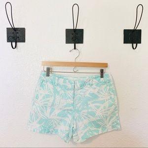 Ann Taylor LOFT || Turquoise Floral Shorts